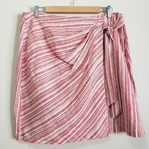 BP stripe side tie skirt NWOT L